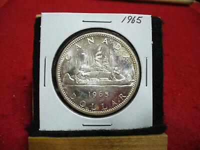 1965  Canada  Silver Dollar 1$  Coin  Nice Grade  65  Auction  .99  Cent  Start