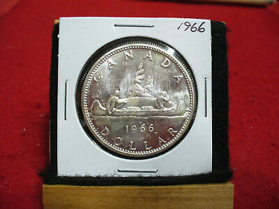 1966  Canada  Silver Dollar 1$  Coin  Nice Grade  66  Auction  .99  Cent  Start