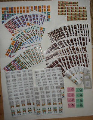Gb+Jersey+Guernsey+ I.o.m.:stamps With Full Gum In Sheets - Face Value £ 219