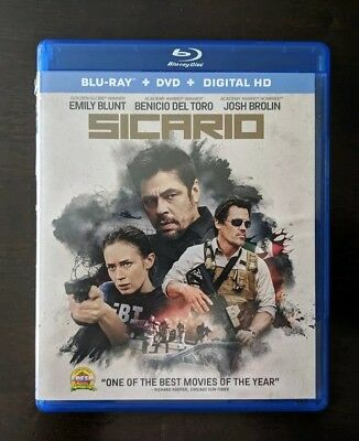 Sicario (Blu-ray / DVD, 2016, 2-Disc Set) No Digital Code