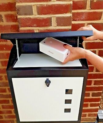 Large -  Secure Parcel/ Letter Box  Weatherproof Lockable - Designer Parcel Box