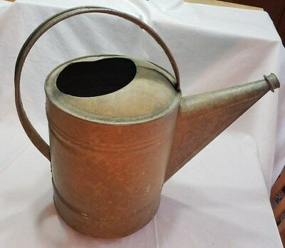 Vintage Galvanized Metal Large Watering Can