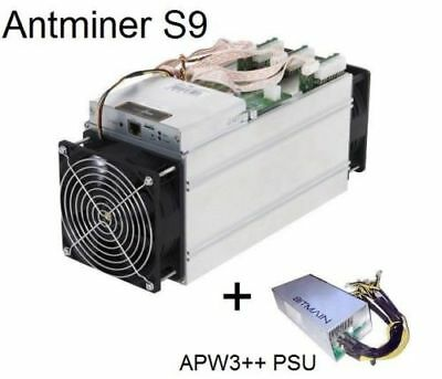 Bitmain Antminer S9 **13.5 TH/s** with APW3++ PSU