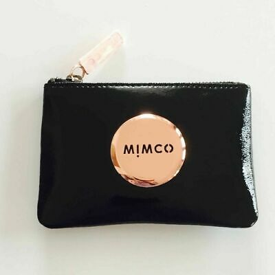 Mimco Black Patent Leather Small Pouch Wallet Rrp $69.95