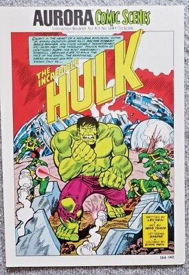 * Aurora Comic Scenes HULK (MT 9.8) from an ORIGINAL OWNER Collection *
