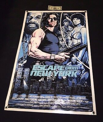 ESCAPE FROM NEW YORK movie banner SNAKE PLISSKEN poster action figure game A47
