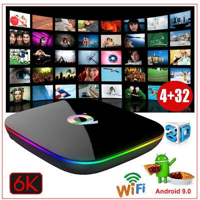 NEW Q plus 6K 4+32G Android 8.1 Smart TV Box Quad Core WIFI Media Player MINI PC