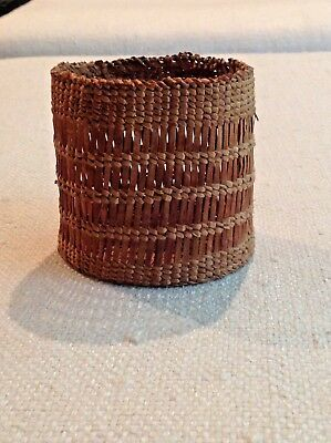 Vintage Alaskan Tlingit Cedar Bark and Spruce Root Basket