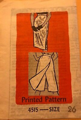 Vintage Anne Adams 1960s Sewing Pattern #4515 Misses Culotte Skirt Waist Size 26