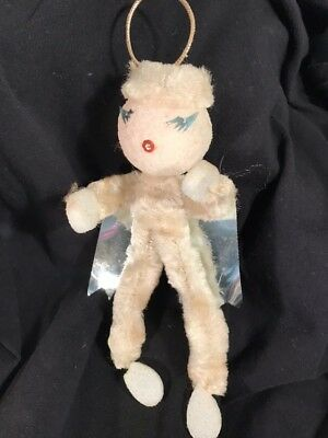 Vintage Chenille Pipe Cleaner Angel Christmas Ornament