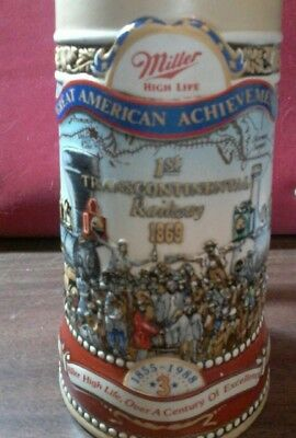 Miller High Life Great American Achievements 1st Trancontinental Railway