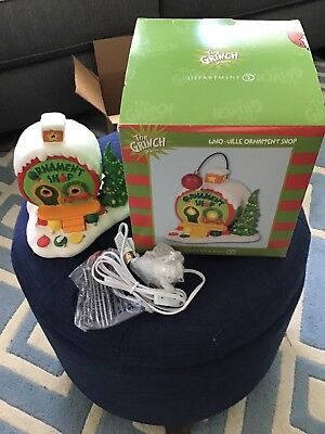 DEPT 56 - THE GRINCH SERIES - WHO-VILLE ORNAMENT SHOP - NEW 2018 New