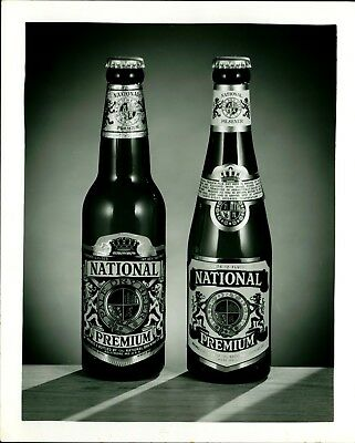 Original 1940's Promotional Photo National Brewing Co Beer Bottles Baltimore