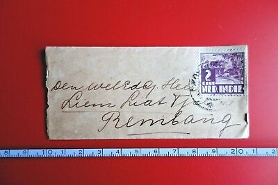 NETHERLANDS INDIES : Very small Cover w/ 2ct Kr, KOEDOES to Rembang