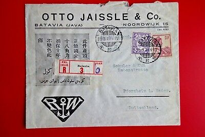 NETHERLANDS INDIES  :  Very Old Adv Cover, Batavia to Duitschland Pmk  ('29)