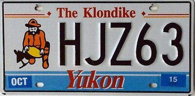 "USA Number Licence Plate CANADA YUKON  ""THE KLONDIKE"""