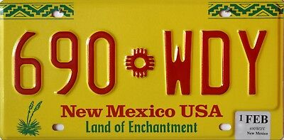 "USA Number Licence Plate NEW MEXICO ""LAND OF ENCHANTMENT"""