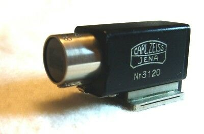 Zeiss Contax Rf Rare Early Black/nickel Multiple Finder 436/1,very Clean No Haze