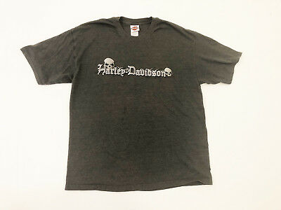 HARLEY DAVIDSON Motorcycles Mens Gray Graphic T Shirt Tee Detroit MI Size XL