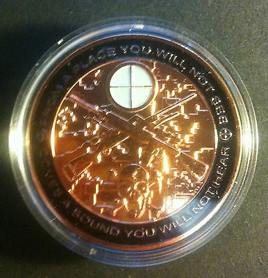 "1 oz Sniper 'Awesome Detail And Insignia"" 999.0 Pure Copper Bullion Coin"