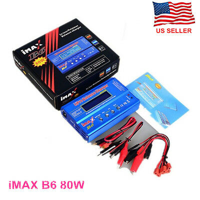 IMAX B6 80W Lipo LiFe NiMh NiCD RC Balance Battery Charger Discharger for drones