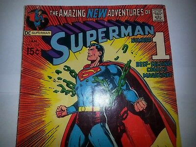 #1-DC Superman #233 1971 Classic Neal Adams cover.