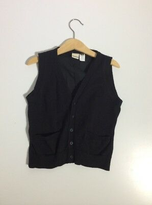 "Boys *dressy*Smart *Casual VEST ""IKKS"" Size 6 Black"