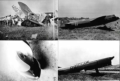 Lot Of 4 Airplane Photographs Mr. Smoothie, F. Haines Racer #88 Set 129