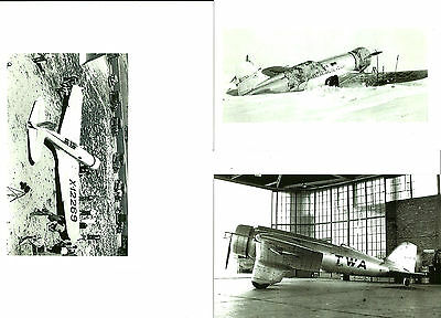 Set Of 3 - Lot #37 B&w 4X6 Photographs - Northrop Twa - Airplanes