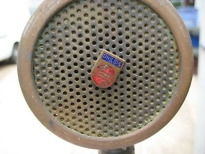 Philips Microphone Rare Antique Possibly 30's or 40's