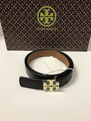 33661271366a TORY BURCH Reversible Logo Belt 1
