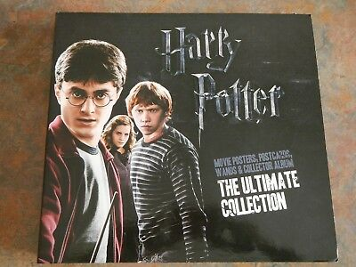 Harry Potter Collector's Album - Movie Posters, Over 150 Postcards, 3 Wands