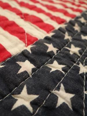 Usa Stars & Stripes American Flag Patriotic Vintage July 4 Red White Blue Quilt