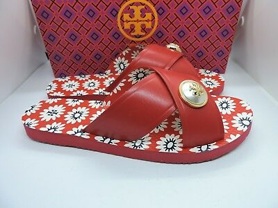 350a737c3914 NIB TORY BURCH Melody Pearl Jelly Sandal Nantucket Red Thong Miller ...