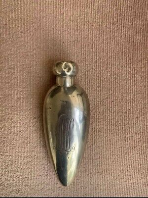 Antique Sterling Silver Perfume Bottle With Original Stopper Birmingham 1918