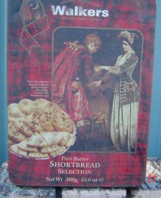 Walkers Shortbread Flora MacDonald Use by 1994 Empty Tin Sold as Per Scans