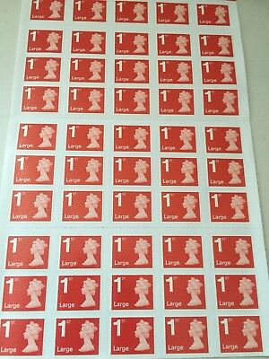 50 x  1st class Royal mail large letter stamps
