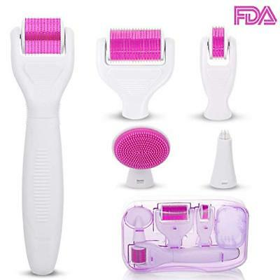 6 in 1 Derma Roller Kit for Face and Body - Micro-needle Roller for Skin Care