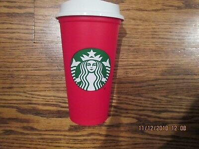 NEW Starbucks Red Reusable 16 Oz Christmas Holiday 2018 Cup - Sold Out!