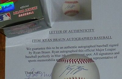 Milwaukee Brewers Ryan Braun Autographed Signed MLB Authentic Baseball Holo COA