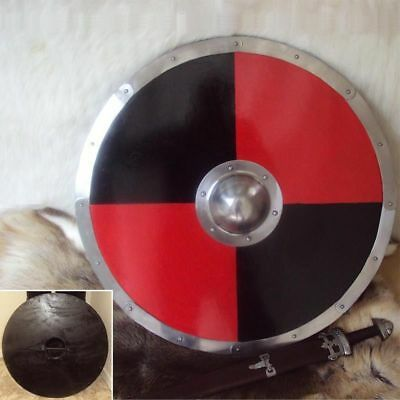 "30"" Viking, Celtic, Barbarian Round Warrior Shield Ready For Battle Re-enactment"