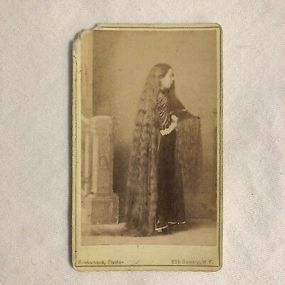 RARE Antique Original Charles Eisenmann Cabinet Photograph - Bowery, NY 1800's