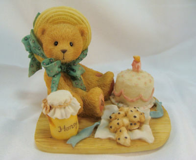 Cherished Teddies  ~  ANNA ... With Birthday Cake  *  NEW From Our Retail Shop
