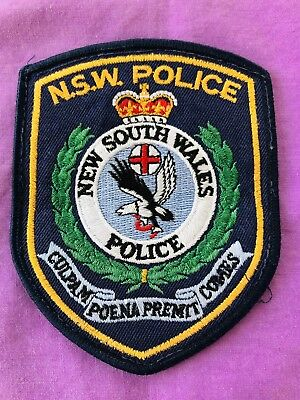 Police Patch / Badge Obsolete. Circa 1990s. Collectable.