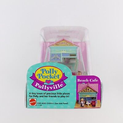 POLLY POCKET Vintage Bluebird 1993 Beach Cafe *NEW & SEALED*