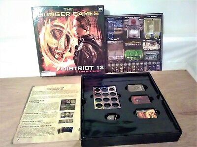 "THE HUNGER GAMES DISTRICT 12 Board Game "" A Game of Strategy "" Complete"