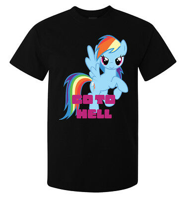 Go to Hell Rainbow Dash My Little Pony Art men (woman's available) t shirt black
