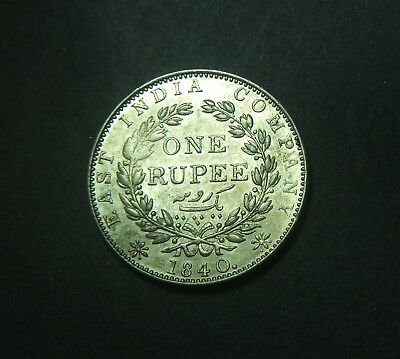 1840 India, One Rupee, 1 rupee silver, high grade