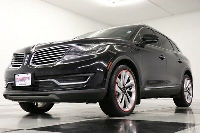 2016 Lincoln MKX AWD Reserve Sunroof GPS Leather Black Velvet SUV Like New Used Heated Cooled Seats Navigation Camera 15 17 2017 16