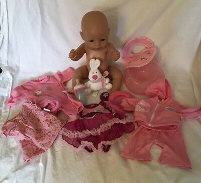 Baby Born Doll, Clothes, Accessories Bundle